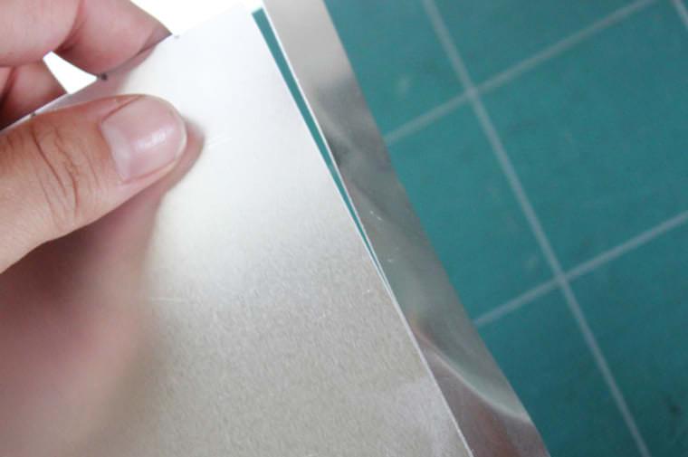 自作クッキー型アルミ板の切り方