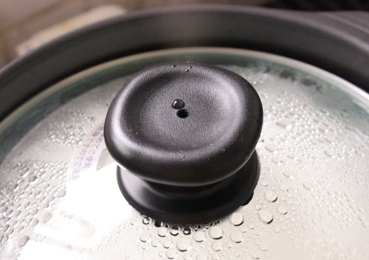 ご飯炊き土鍋の炊き方で沸騰