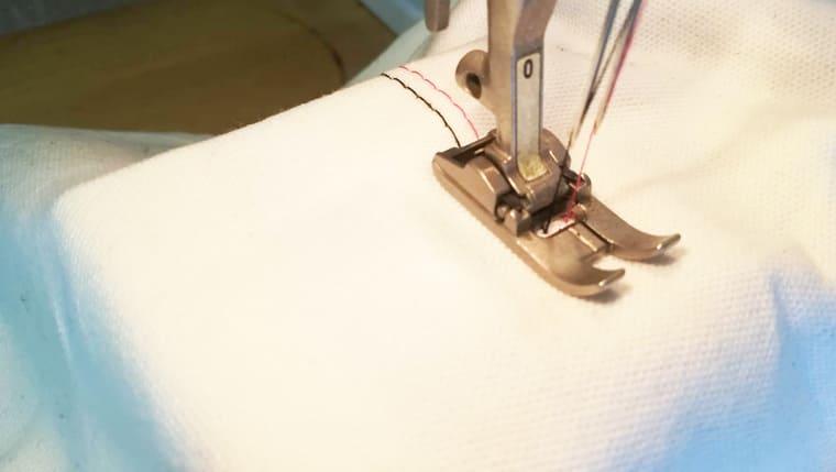 二本針(ツインニードル、ダブルニードル)の縫い方